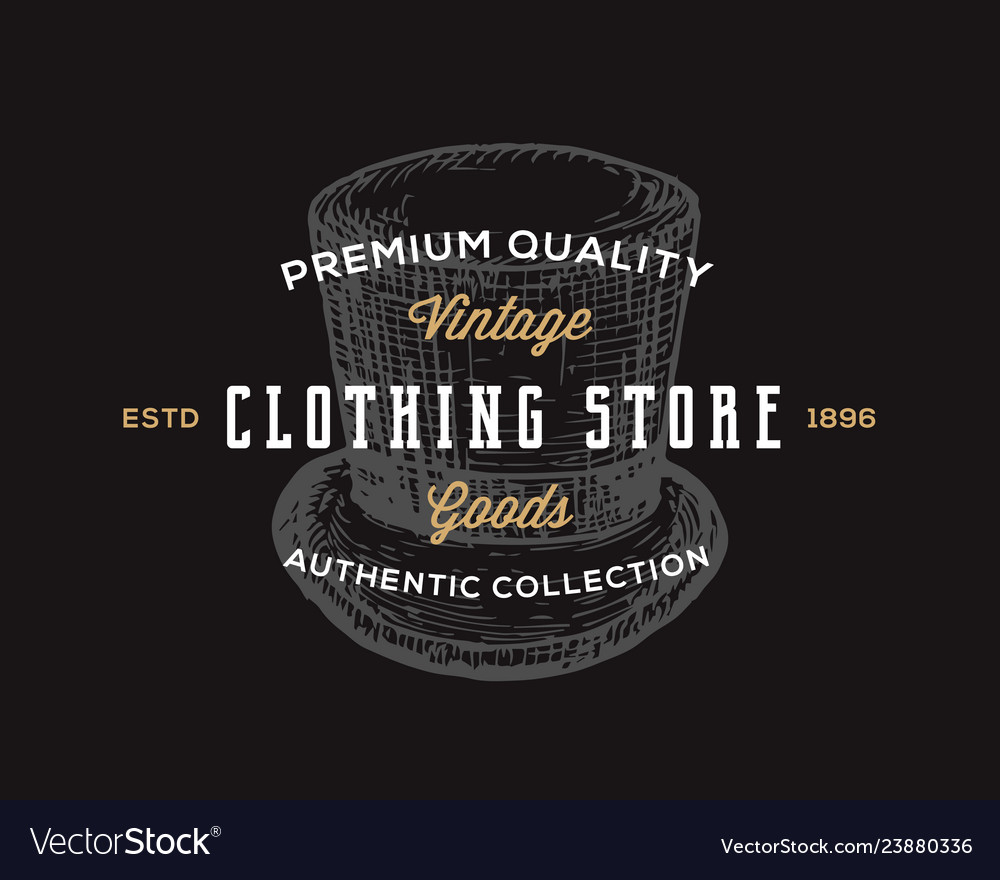 Clothing store retro typography abstract