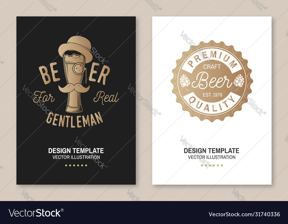 Craft beer poster flyer template card