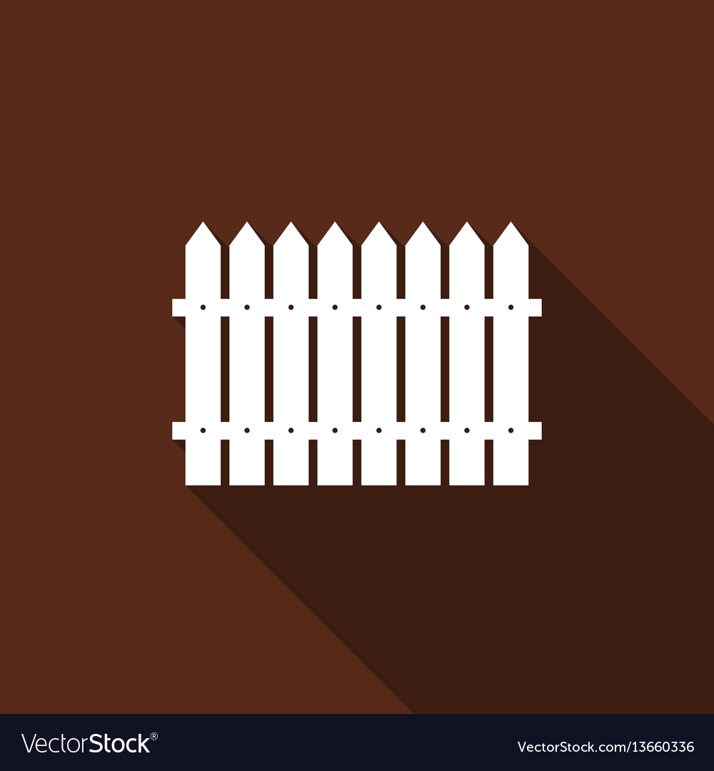 Fence flat icon with long shadow