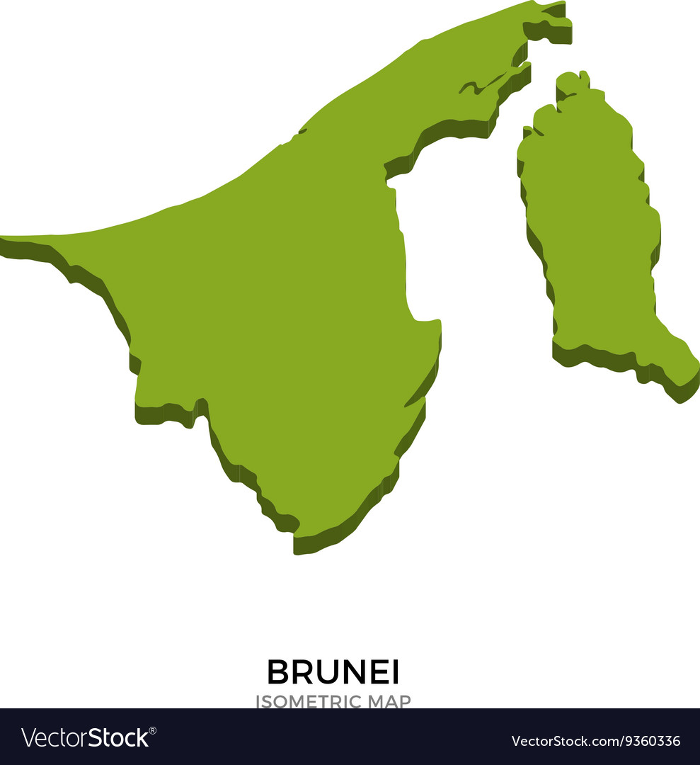 Picture of: Isometric Map Of Brunei Detailed Royalty Free Vector Image