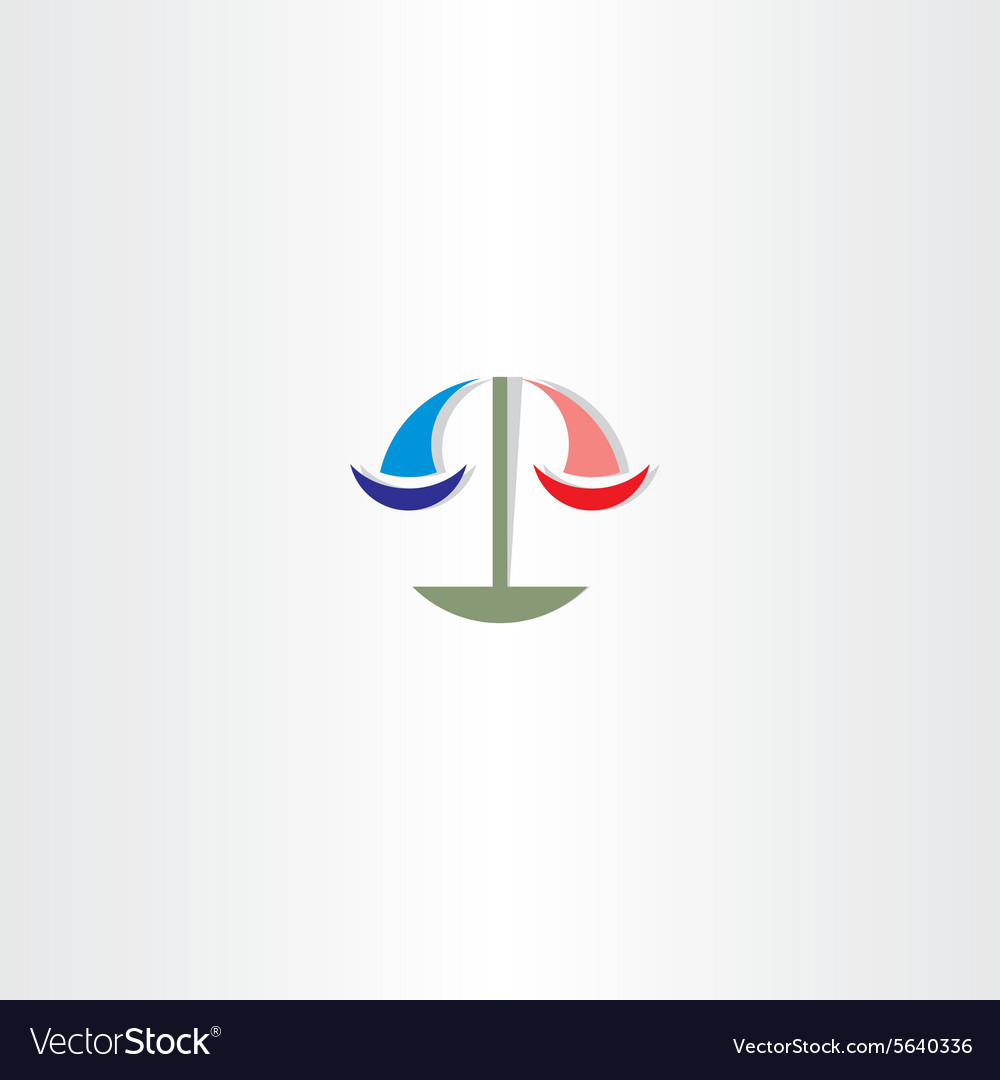 Lawyer scales of justice clip art logo sign vector image