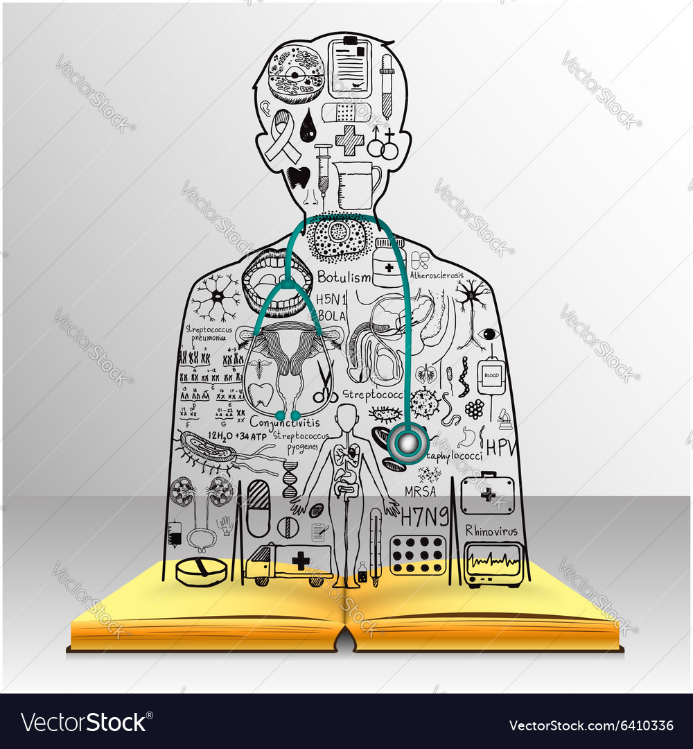 Medicine on book