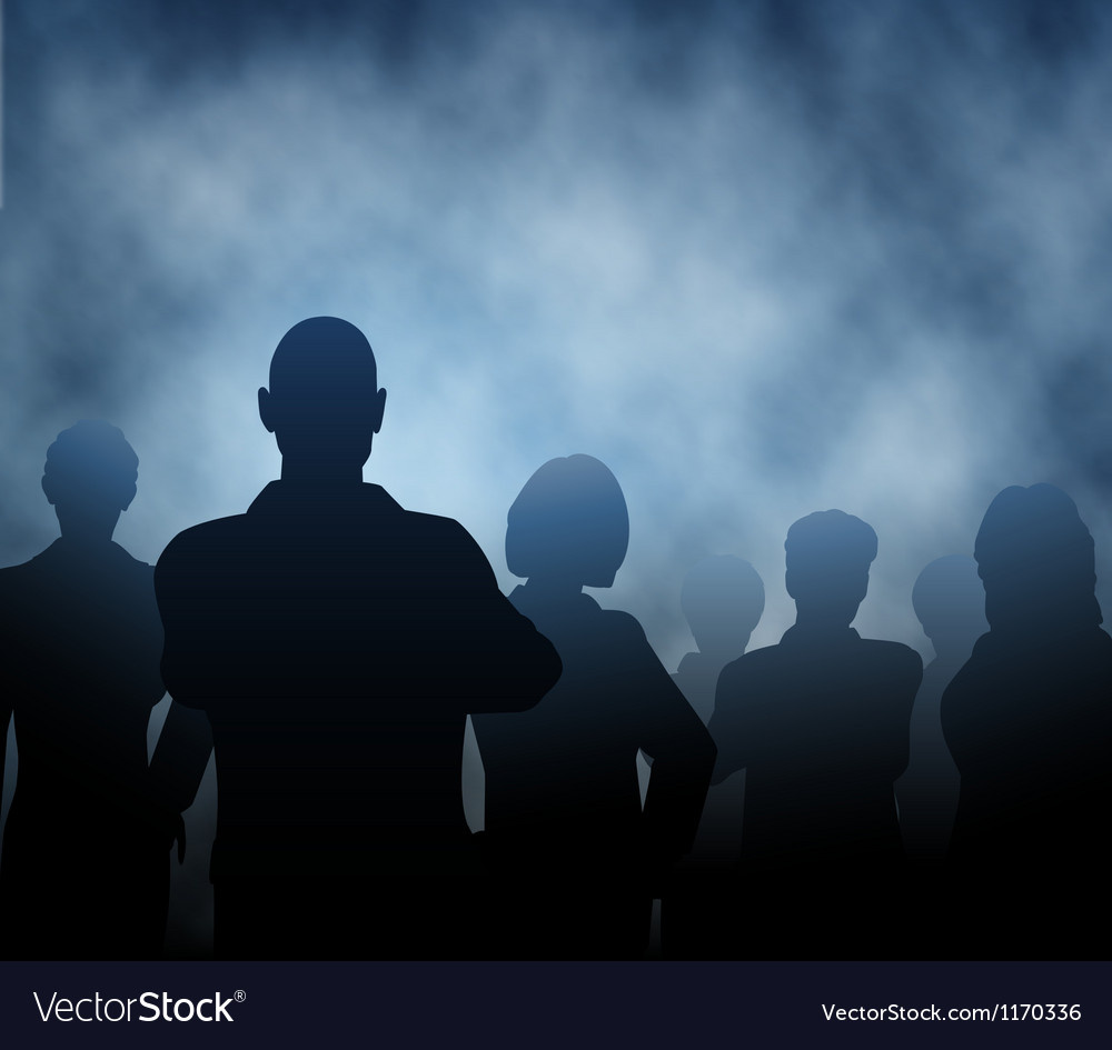 Mist people vector image