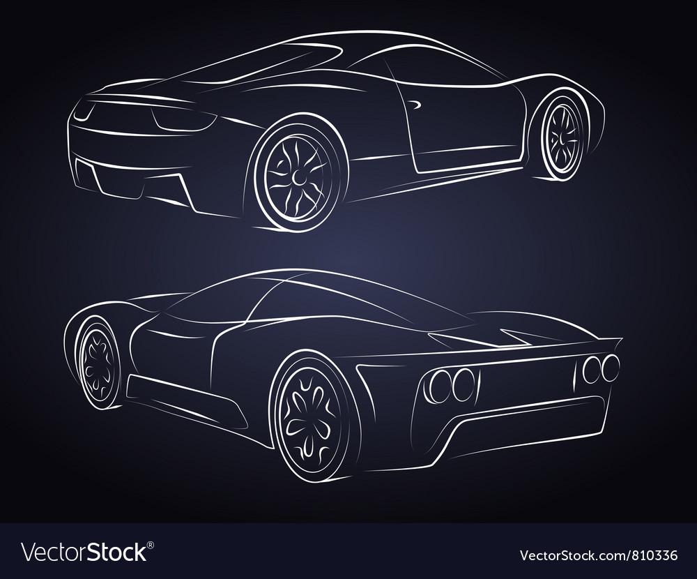 Sport cars Silhouette