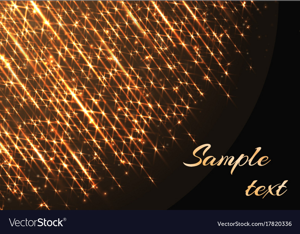 template with sparkles and golden rays vector image