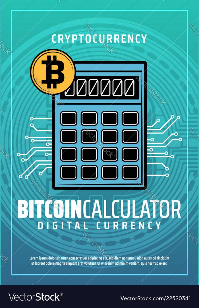 Bitcoin Digital Money Exchange Service Vector Image