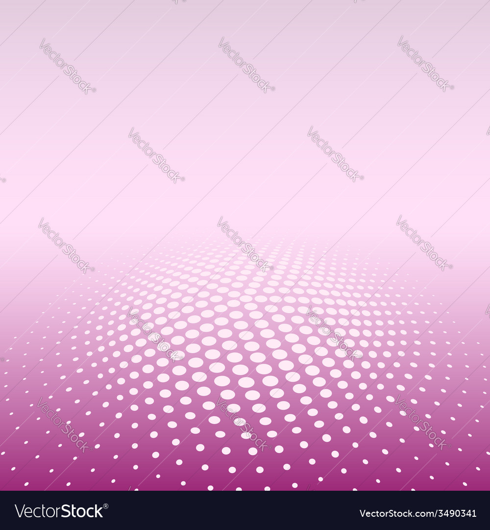 Color radial halftone background vector image