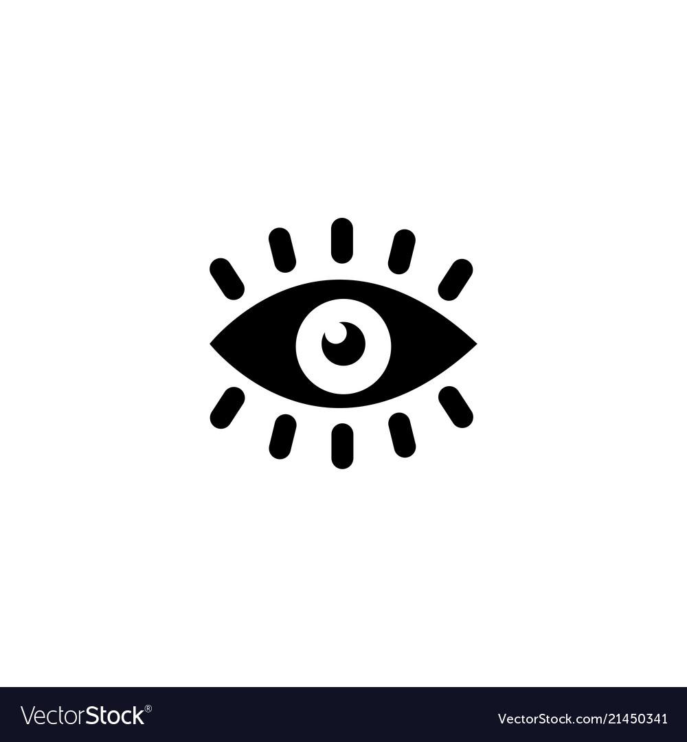 Eye vision flat icon