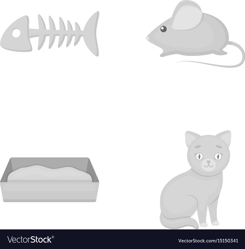Fish bone mouse cat s toiletcat set collection