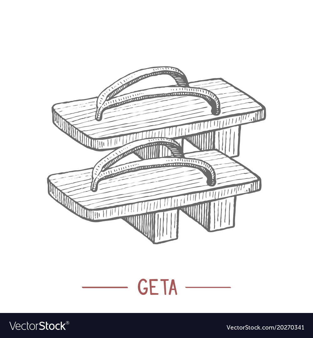 Geta in hand drawn style