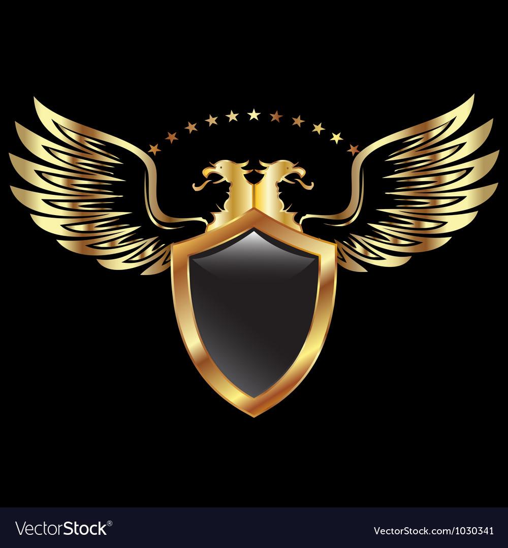 Gold Eagle Shield Royalty Free Vector Image Vectorstock