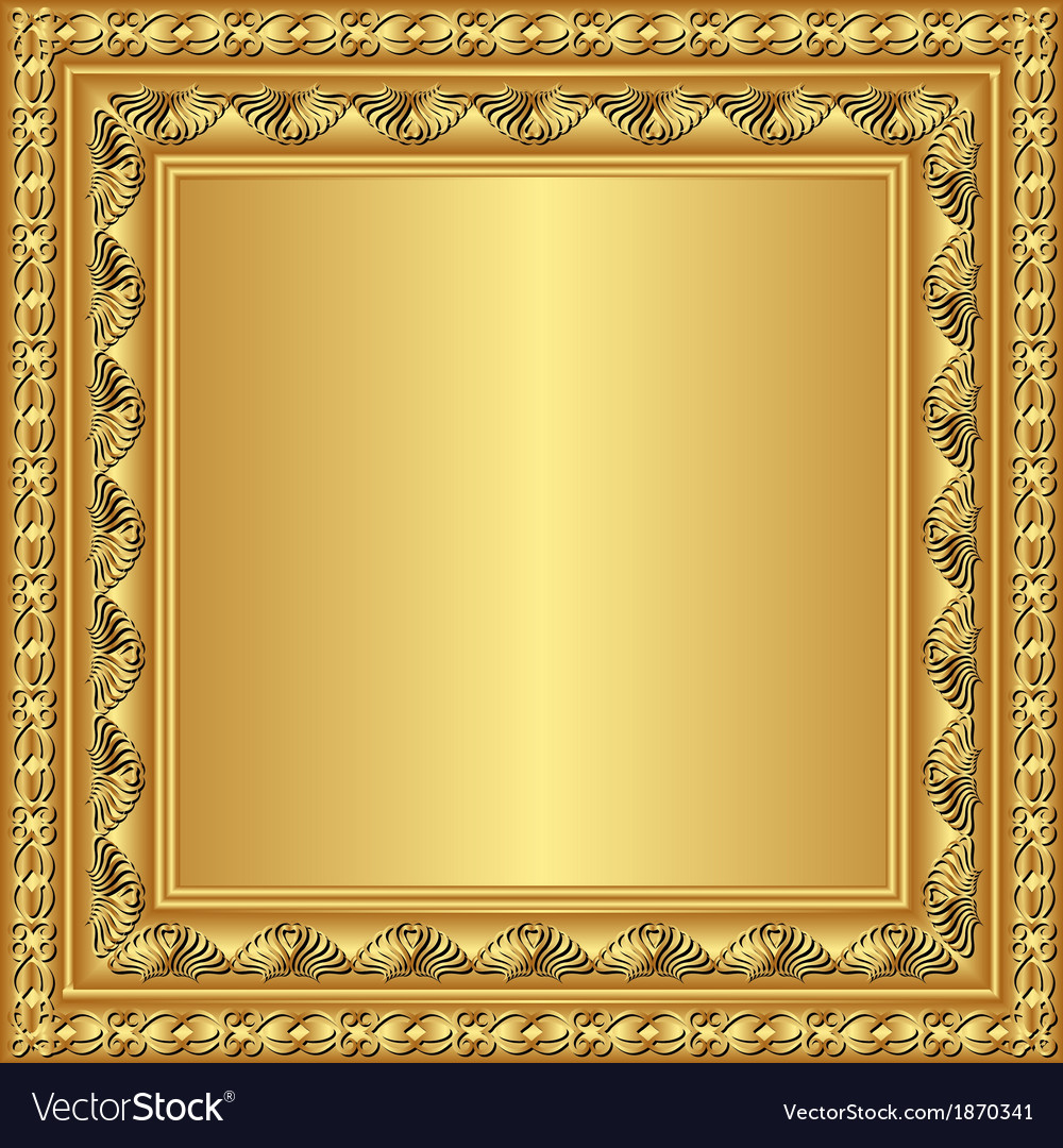Golden frame Royalty Free Vector Image - VectorStock