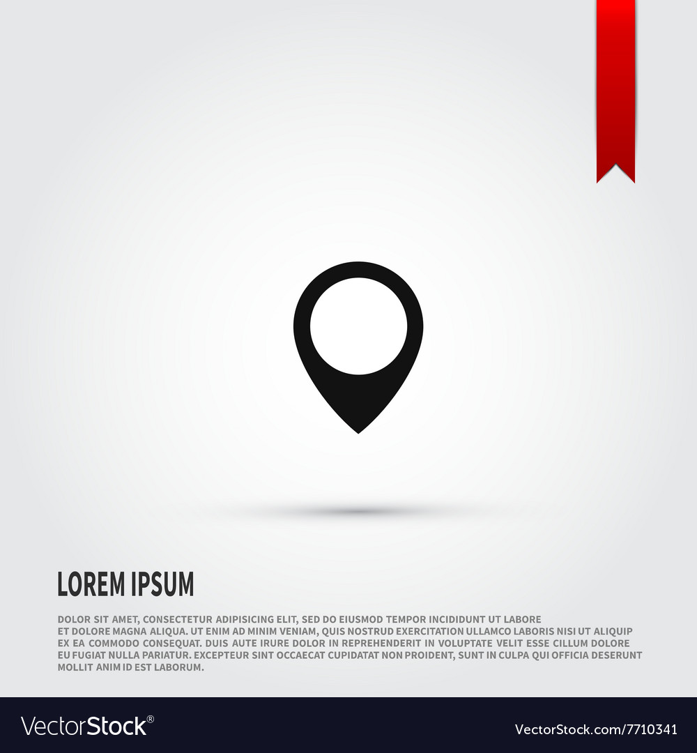 Map pointer icon flat design style template