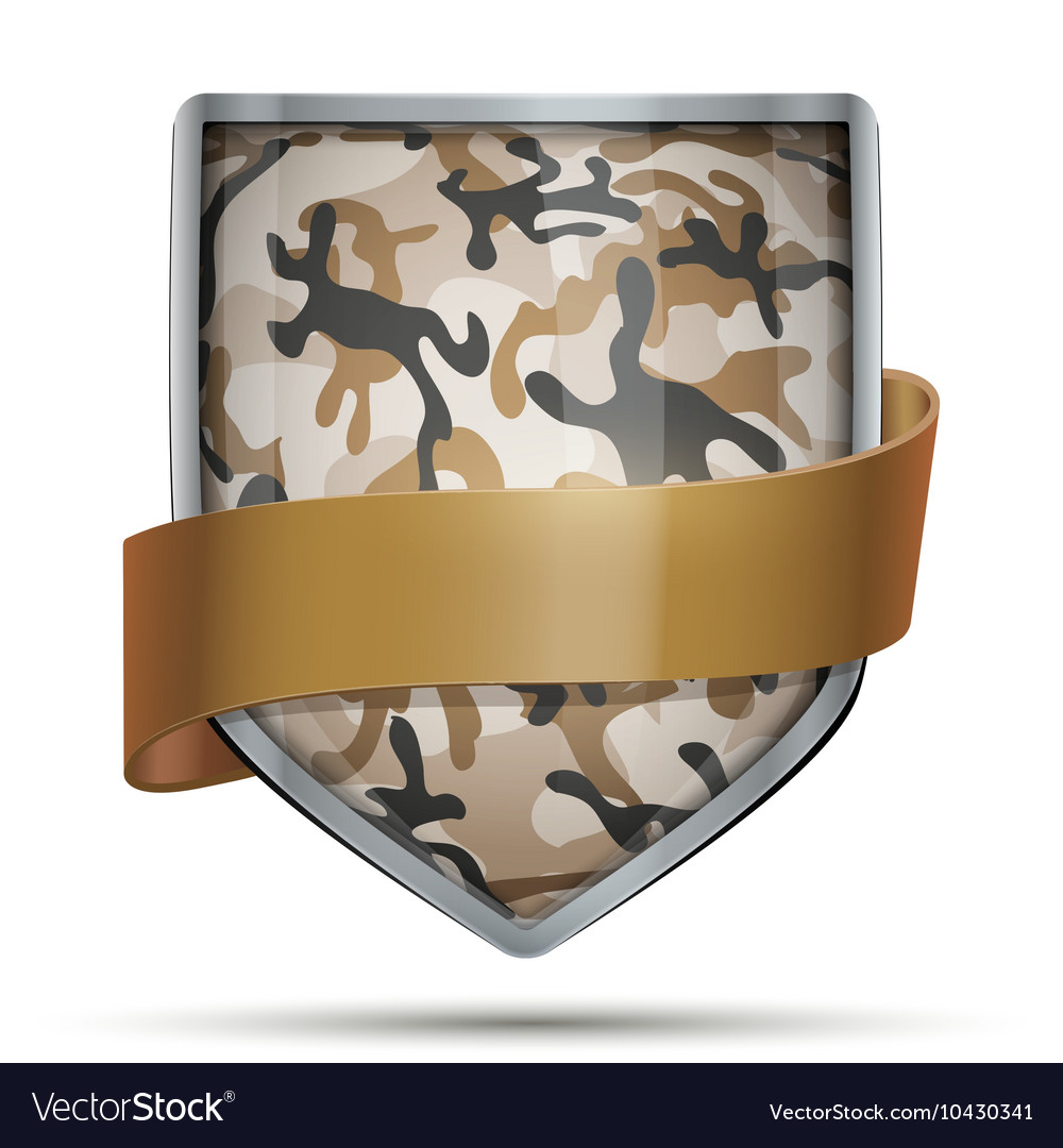 Shield with flag Camouflage