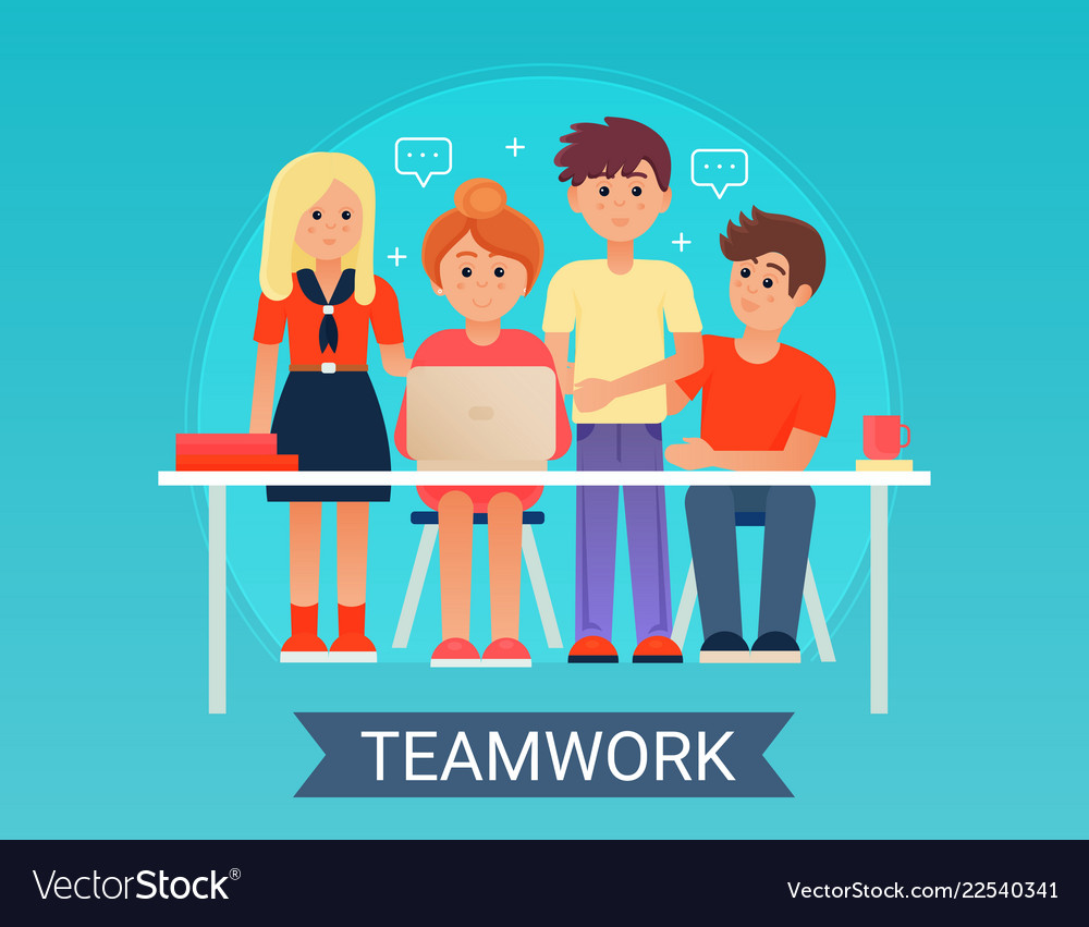 Successful business teamwork concept with happy