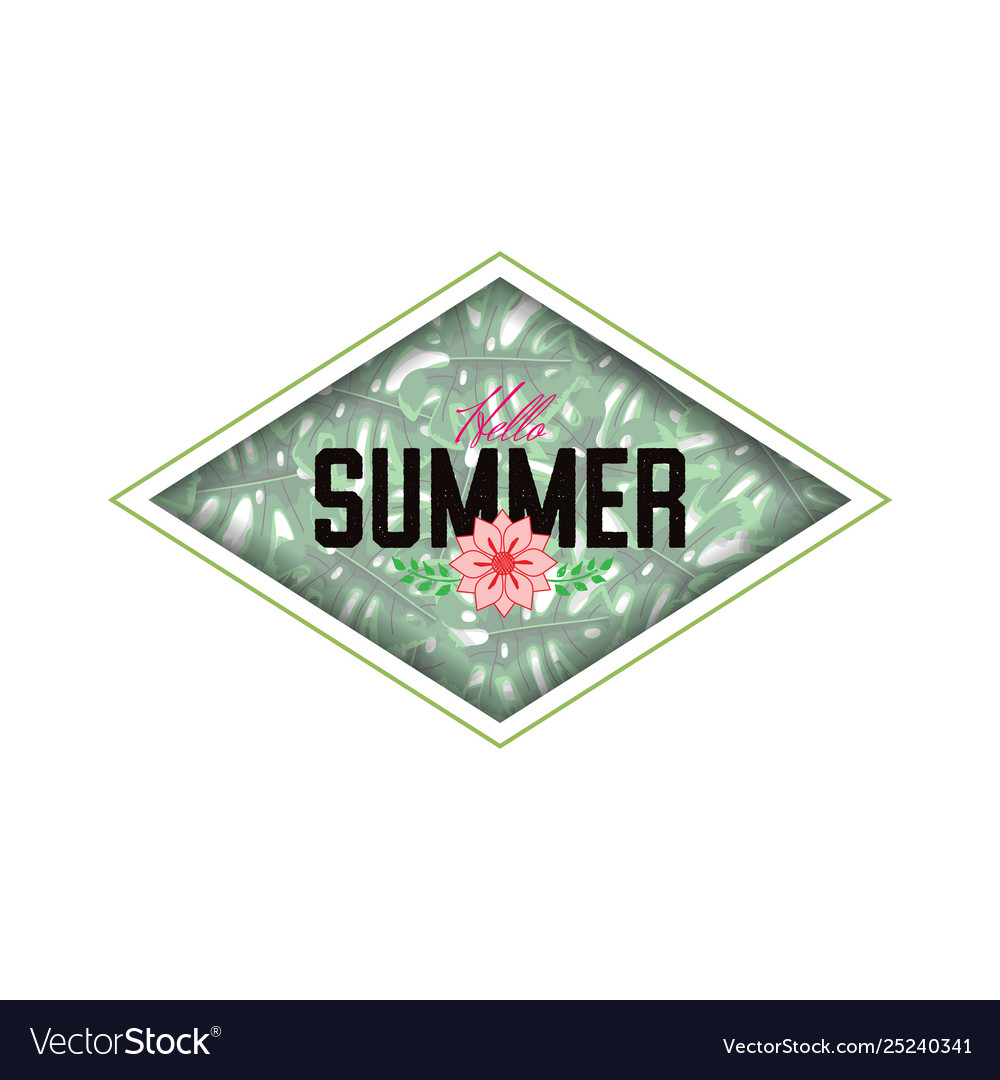 Summer decorative template for holiday design