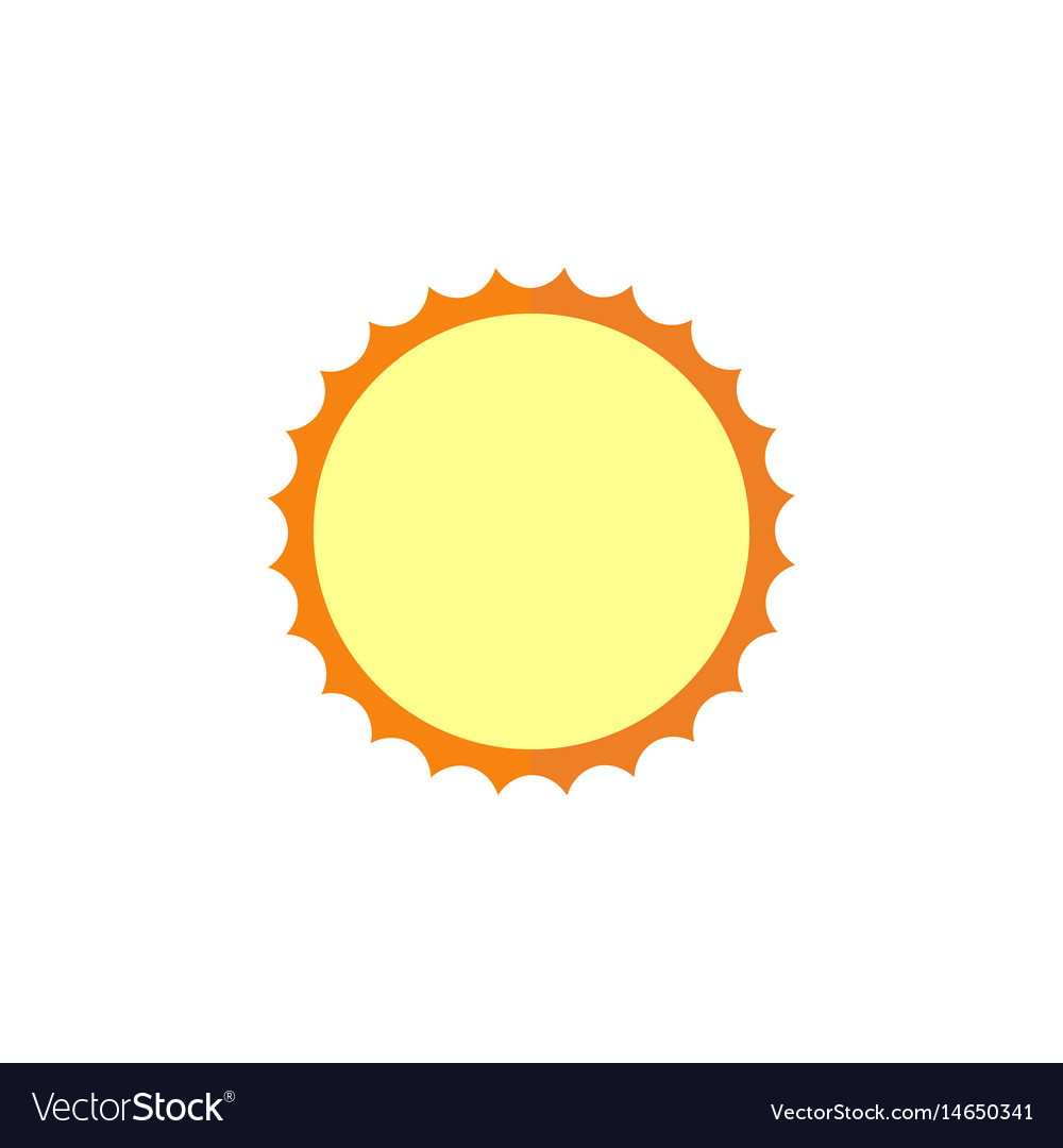 Sun flat icon travel tourism vector image