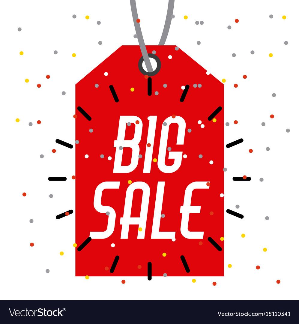 Tag price big sale offer retail market icon