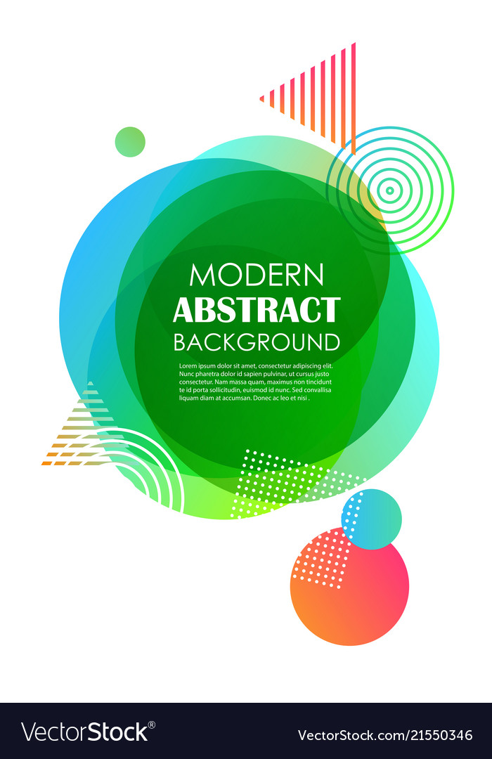 Abstract green gradient geometric pattern design