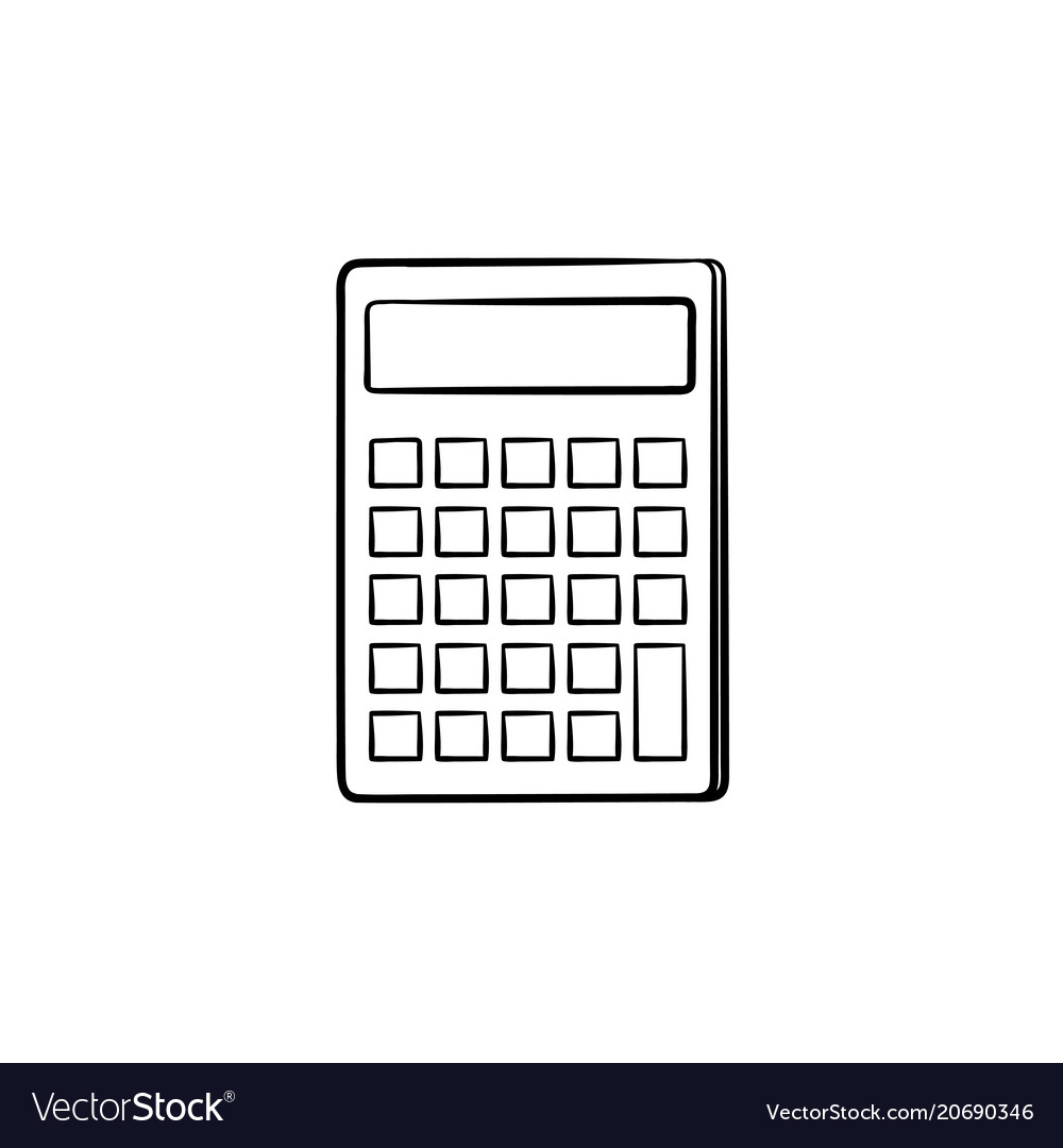 calculator for count hand drawn sketch icon vector image