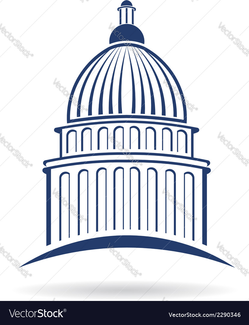 capitol building icon royalty free vector image rh vectorstock com capitol building icon vector capitol building icon vector