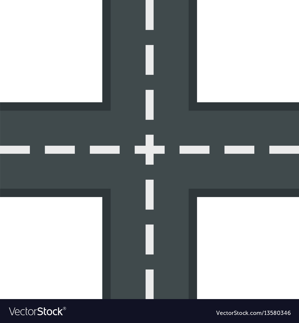 Crossing road icon flat style vector image