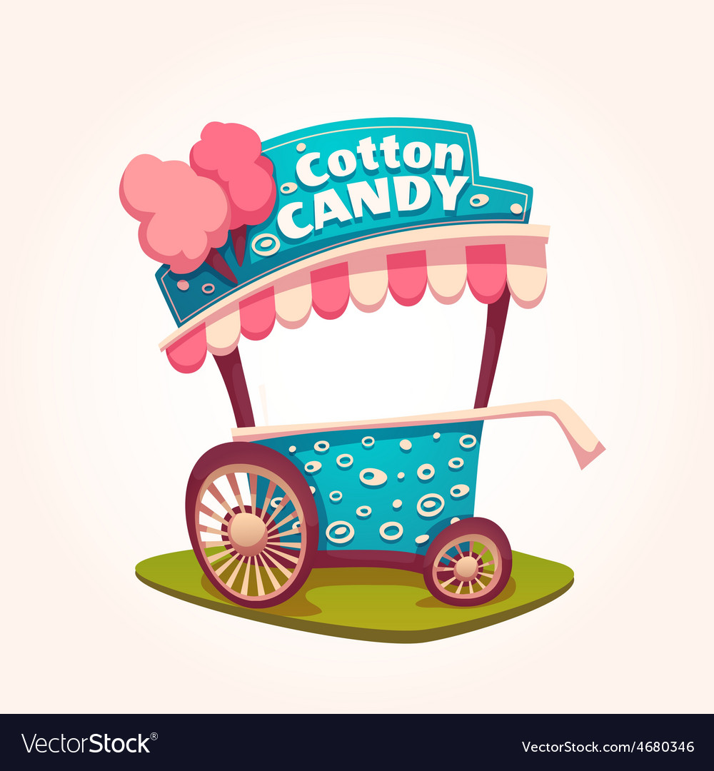 Flat of Cotton Candy cart
