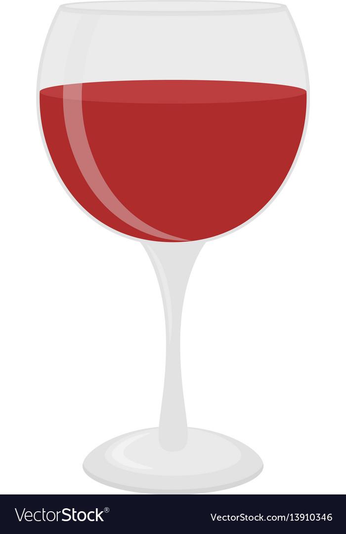 Glass for wine merlot cabernet sangria vector image