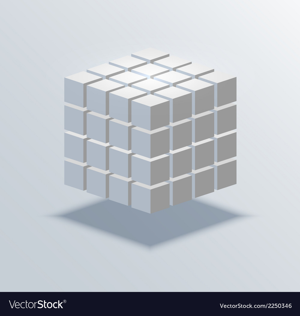 Modern cube business background