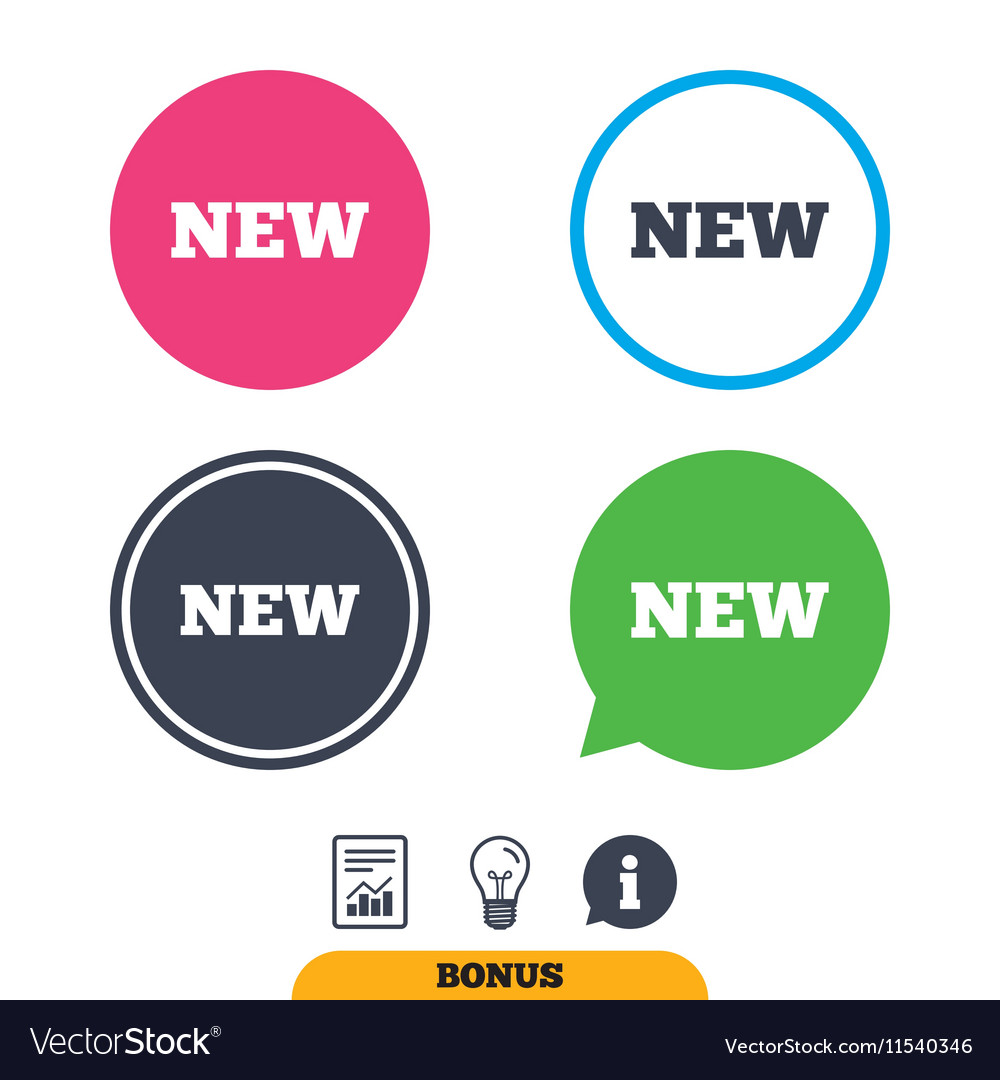 New sign icon New arrival button vector image