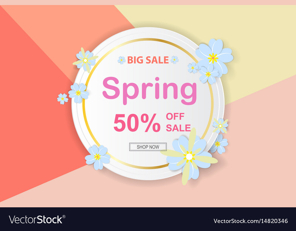 Spring sale background with beautiful colorful