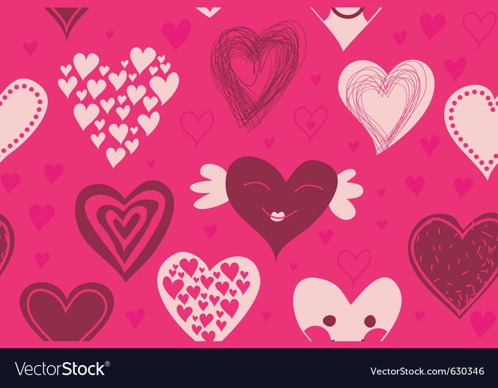 Valentines invitation vector image
