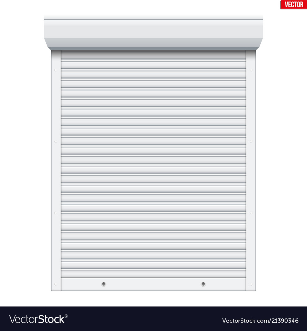 White Roller Shutters Isolated