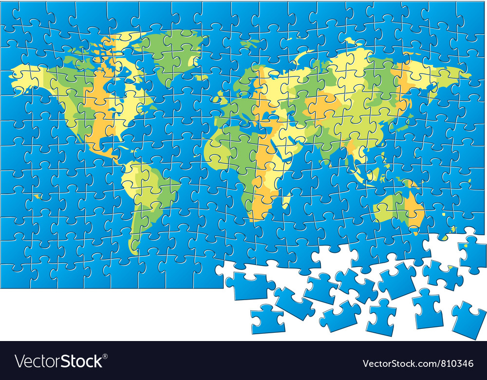 World map puzzle royalty free vector image vectorstock world map puzzle vector image gumiabroncs Images