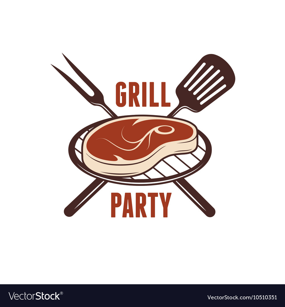 Bbq grill party poster Barbecue related print