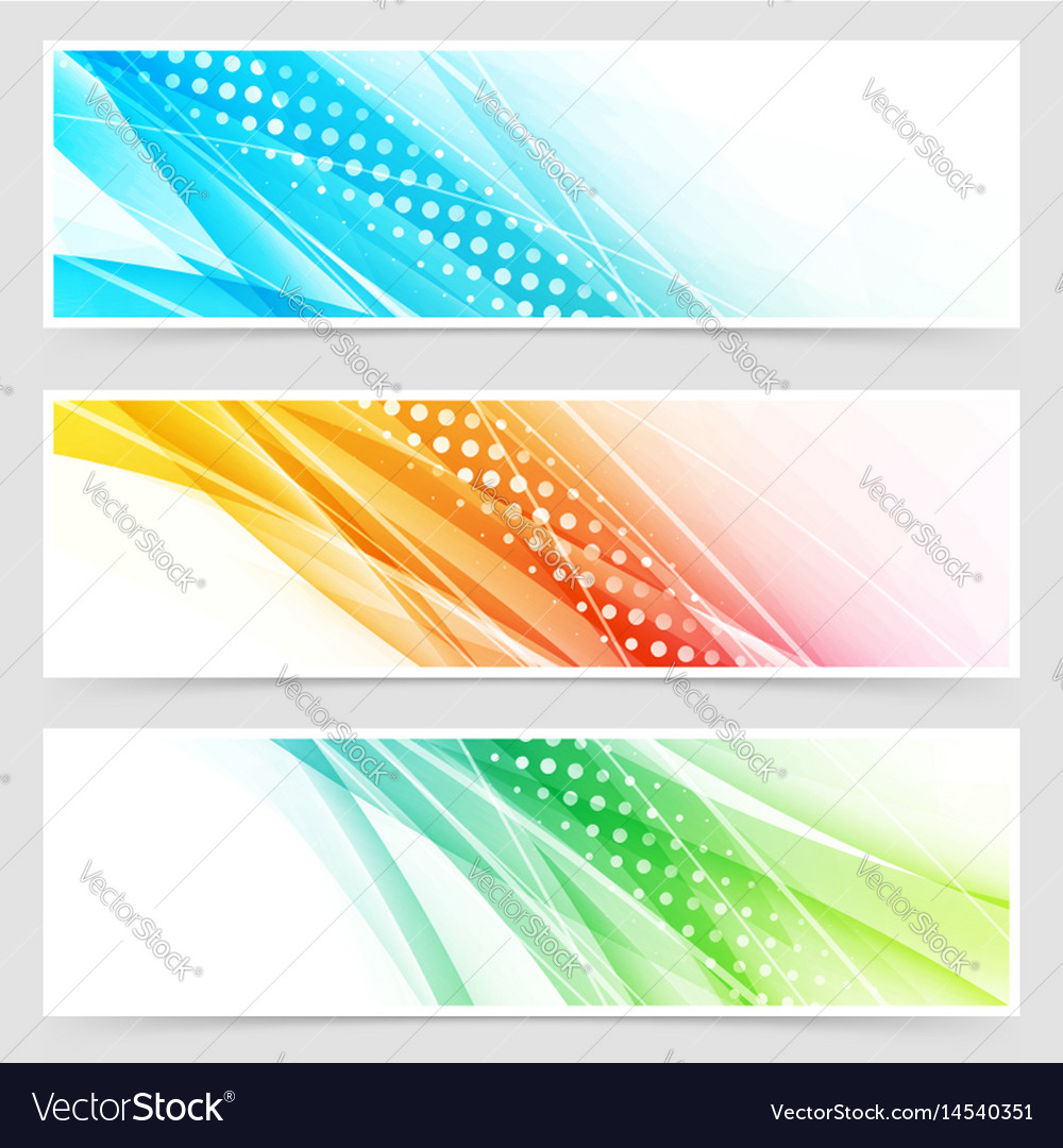 Bright colorful modern futuristic dotted headers