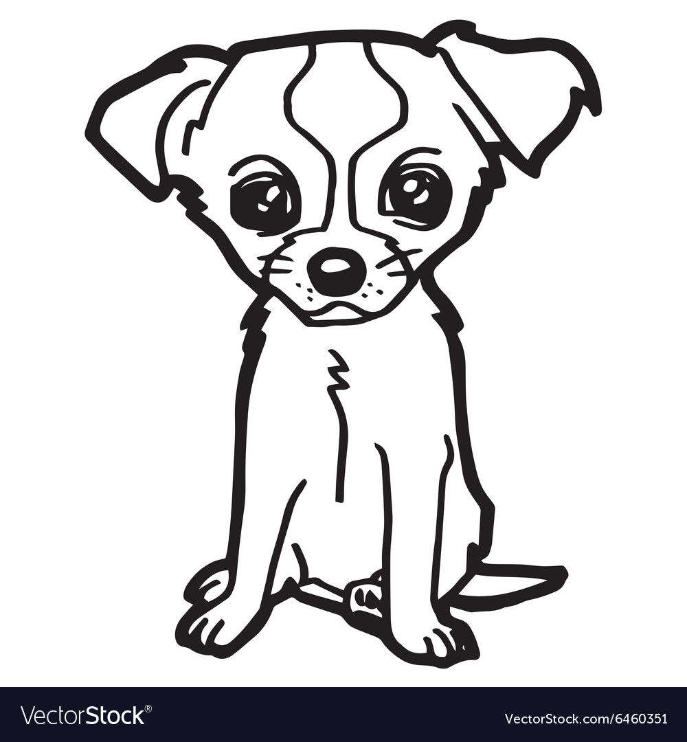 - Dog And Puppy Coloring Page Royalty Free Vector Image