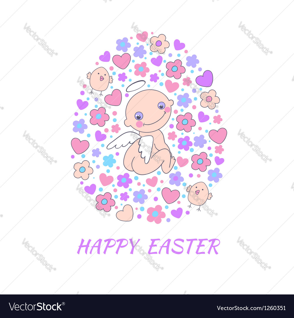 Easter concept card