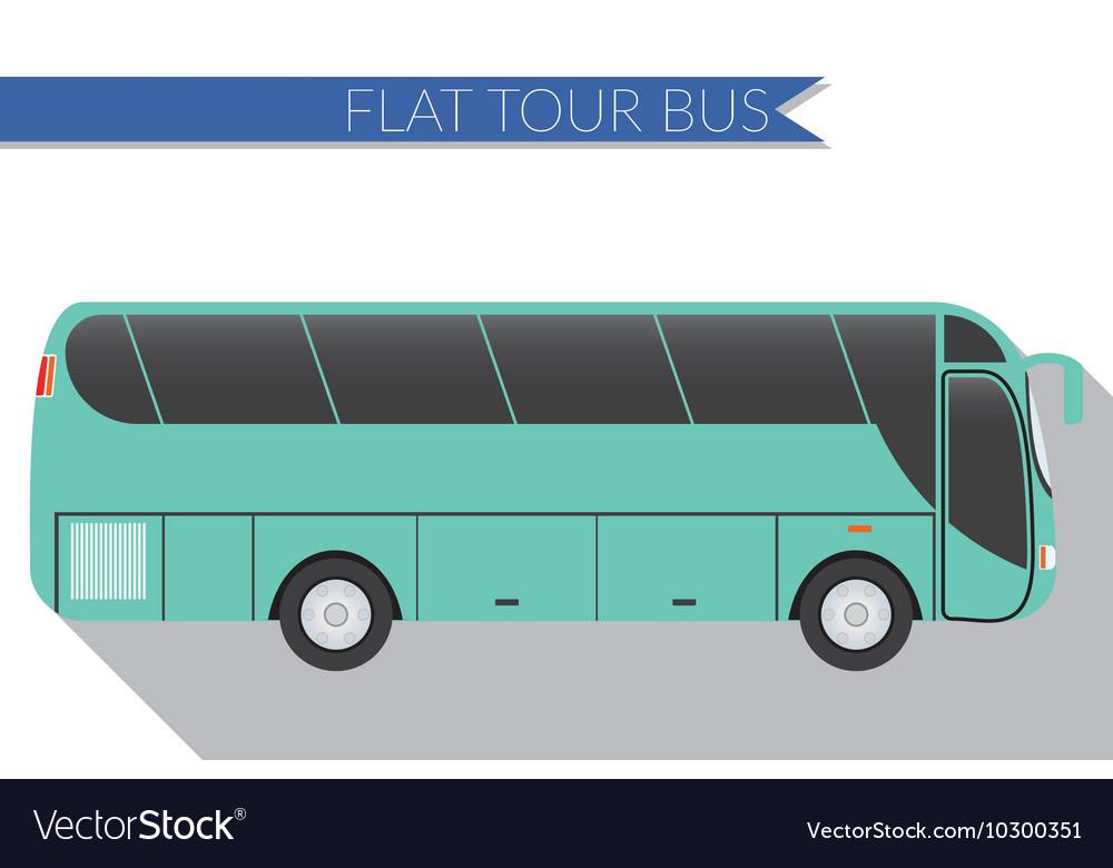 Flat design city Transportation Bus intercity long