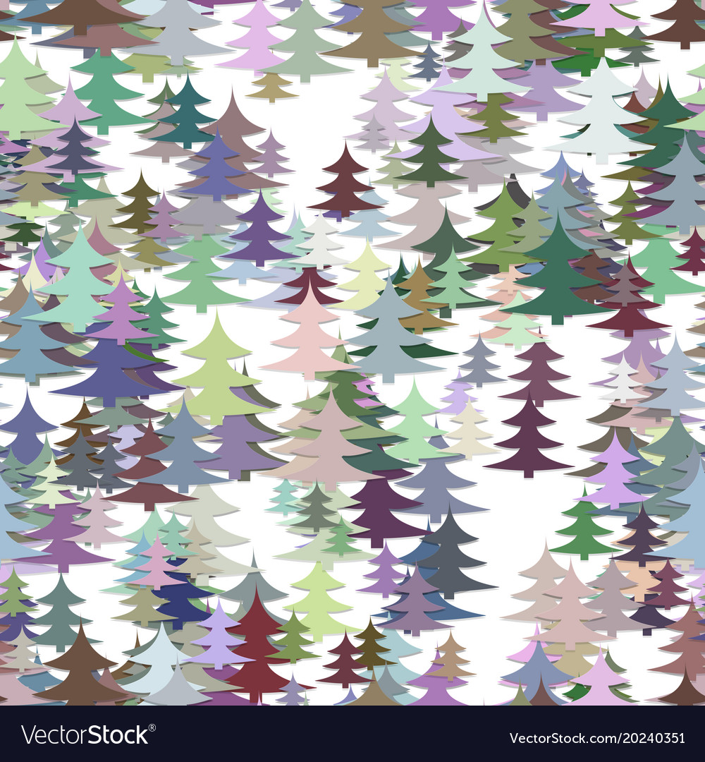 Seamless chaotic winter holiday background vector image