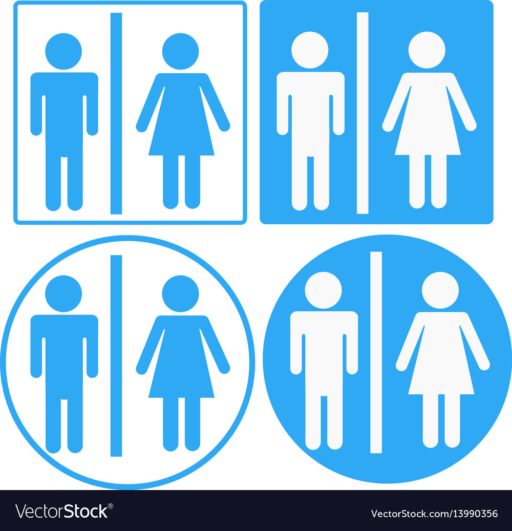 A man and a lady toilet sign toilet sign on