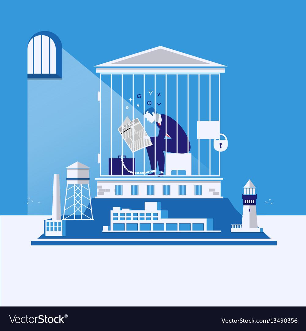 Business bankruptcy debts concept