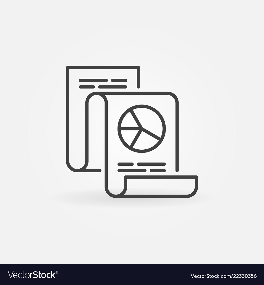 Business statistics report icon in thin
