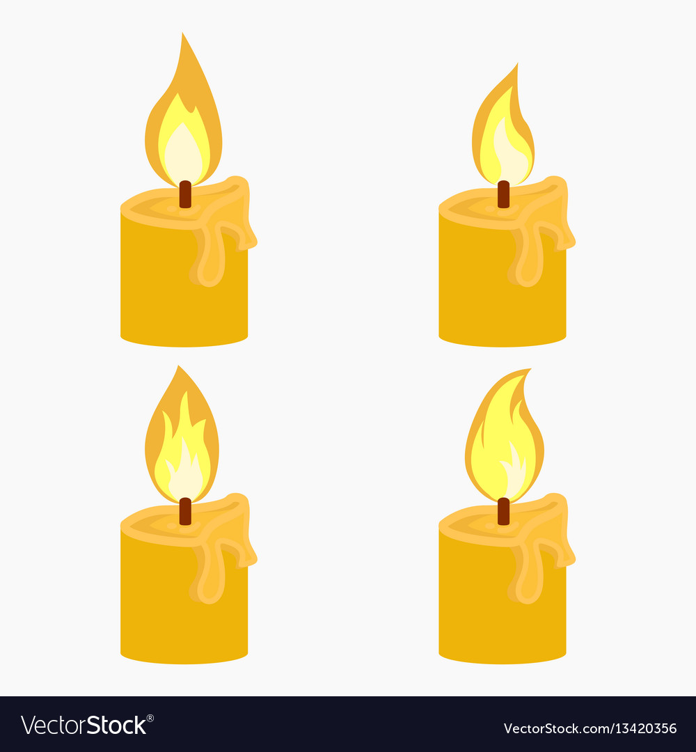 Candle with fire animation
