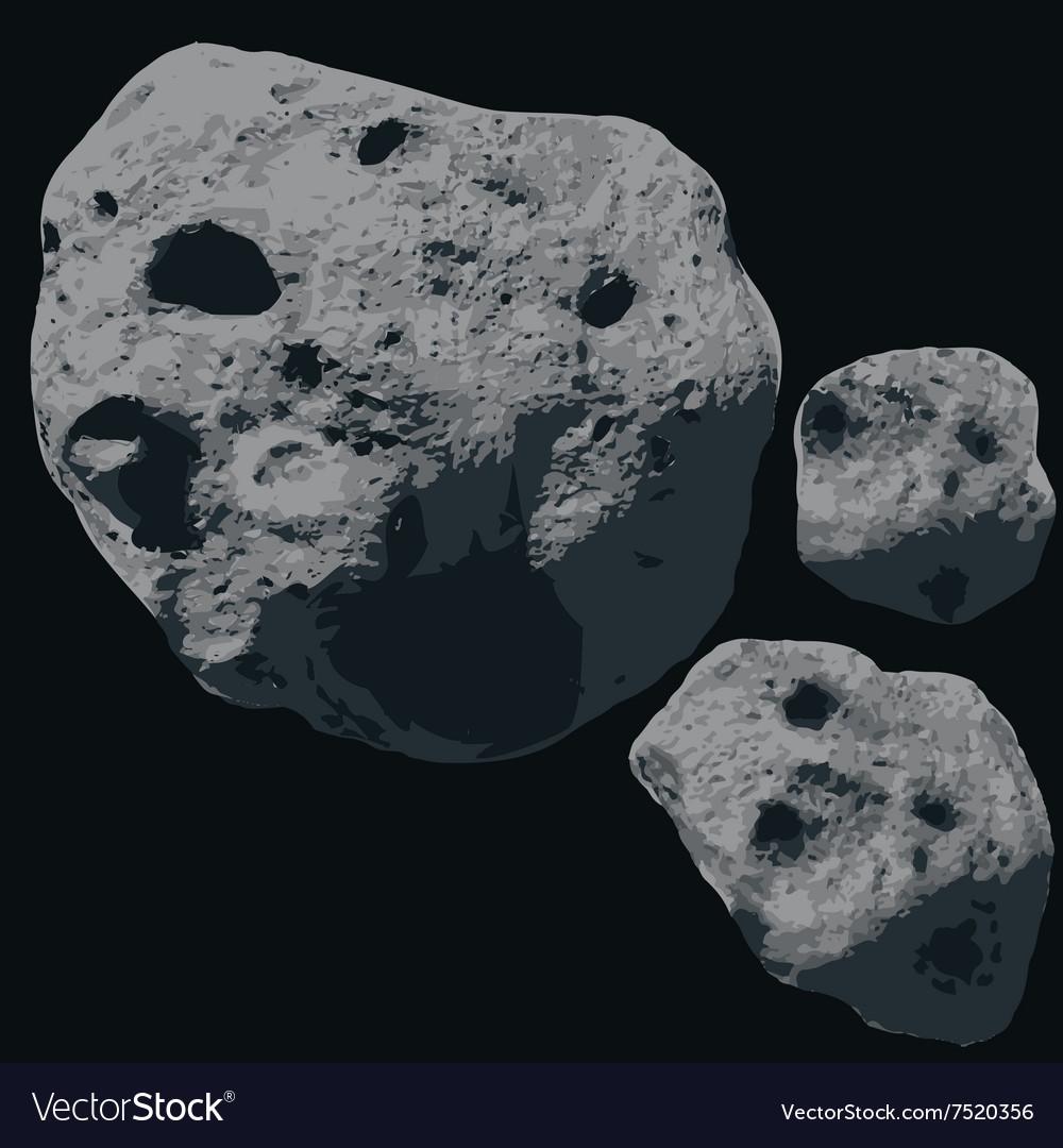 Falling Meteorite Asteroids
