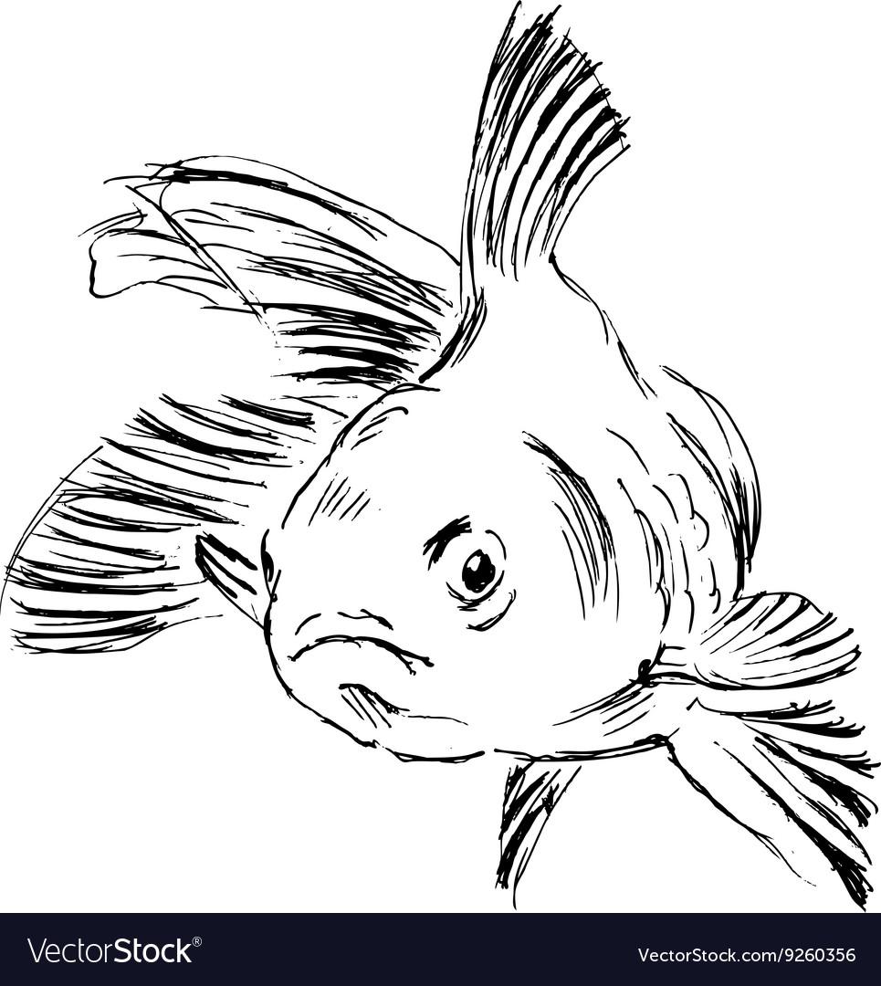 Hand sketch fish