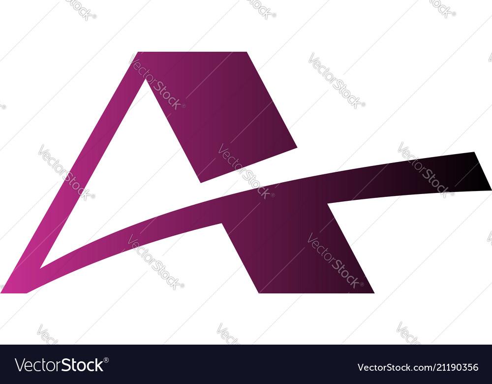 Letter a logo real estate roof logo design