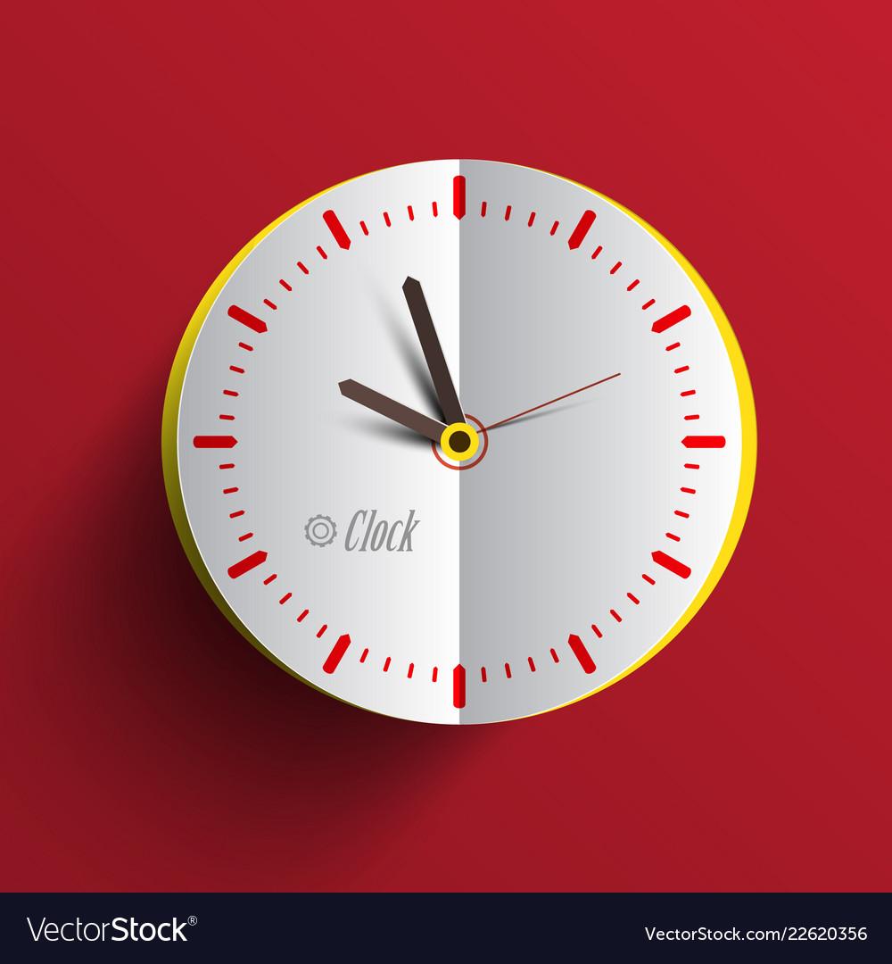 Paper clock face analog time symbol
