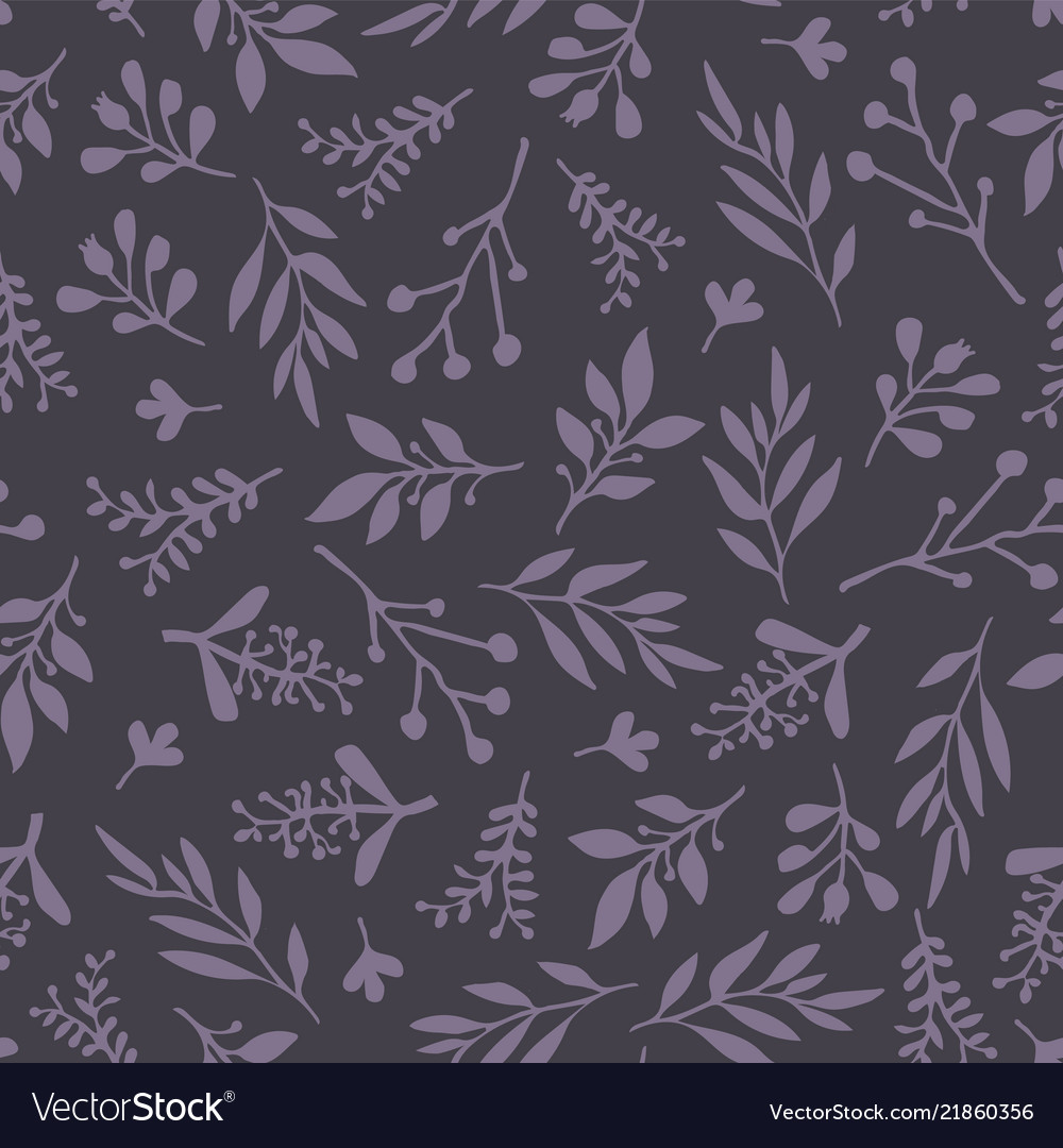 Seamless background abstract leaves purple