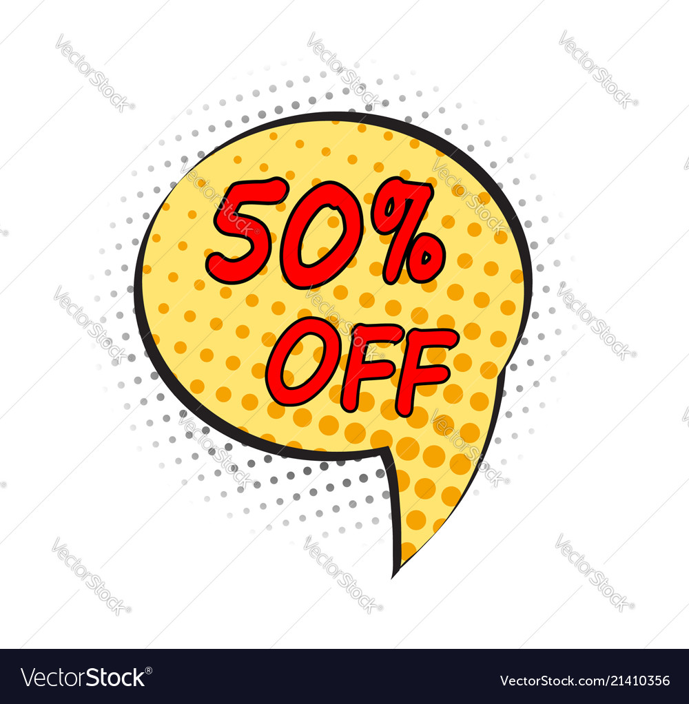 Special offer sale pop art comic style dot tag
